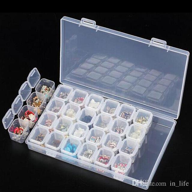 Kunststoff 8 Slots Einstellbare Schmuck Aufbewahrungskoffer Craft Beads
