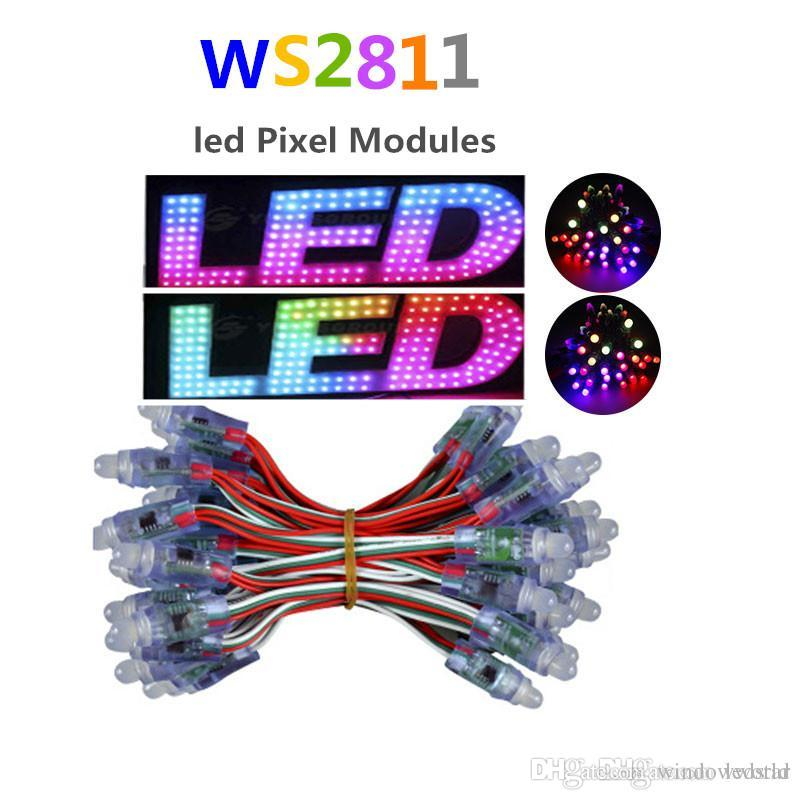 12mm WS2811 llevó el módulo del pixel, luz LED de la Navidad LED de la secuencia de RGB a todo color impermeable de IP68 para la cartelera Envío libre