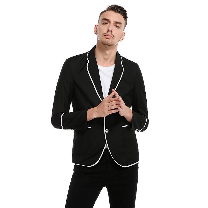 Yeni Blazers Erkekler Casual Ceketler Coats Erkekler Moda Uzun Kollu Turn Down Yaka Ceket Erkek Takım Elbise Topraklar Slim Fit Coat Blazers z30