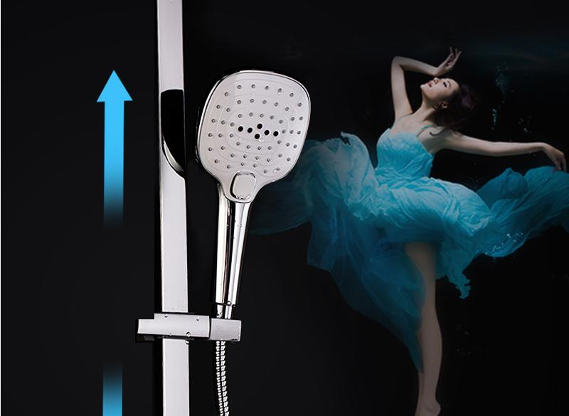 In Wall Exposed Touch Digital Shower Bath 3 Function Bathroom Shower Set Smart Intelligent Thermostat Waterfall Rain Shower (18)