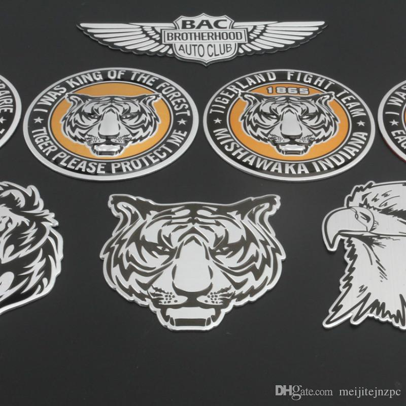 3D Lion Animal Stickers Car Styling Motorcycle Badge Label Emblem Car Stickers