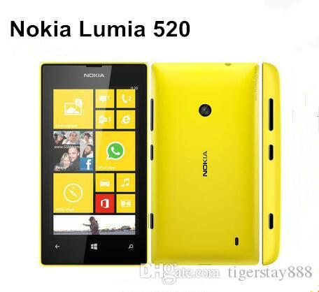 Original 520 Nokia Lumia 520 Windows Mobile Phone 8 Dual core 8GB ROM 5MP GPS Wifi 4.0 refurbished phone