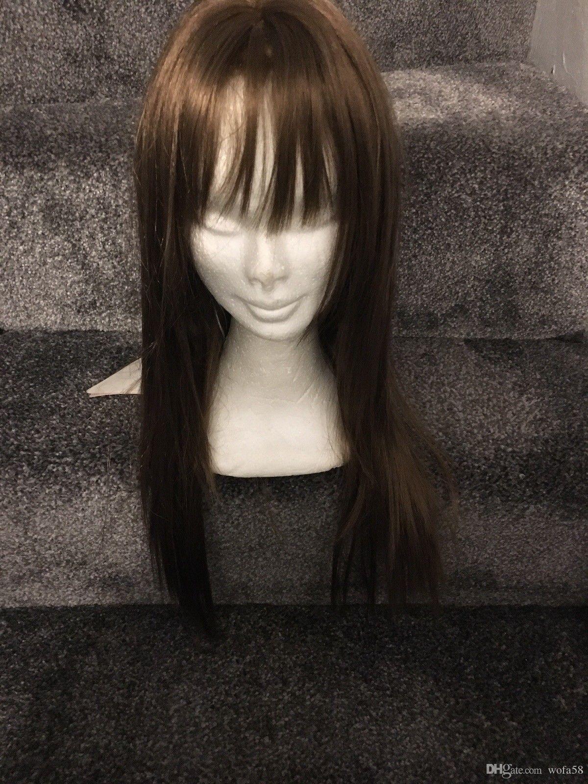Perruque longue perruque blonde longue et chaude
