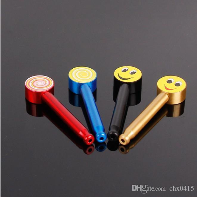 Mini martello rimovibile tubo di metallo asta dritta modellante personalità in lega di alluminio tubo portatile set da fumo