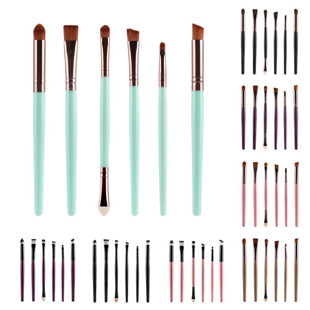 10 colores de la mano 6 pcs marca de maquillaje de pinceles de maquillaje cosmético profesional con Contorno en polvo cosméticos cepillo de maquillaje