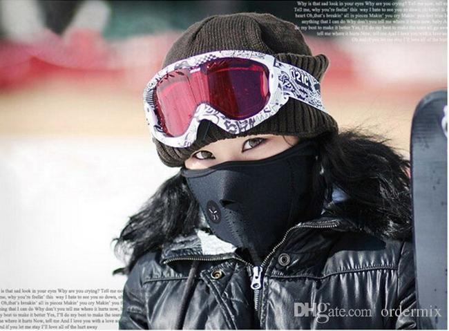 Unisexe Coupe-Vent Chaud Masque Pour Le Visage D'hiver Snowboard Ski Masque Randonnée Vélo Moto Cap En Néoprène Cou Chaud CS Masque Pour Hommes Femmes