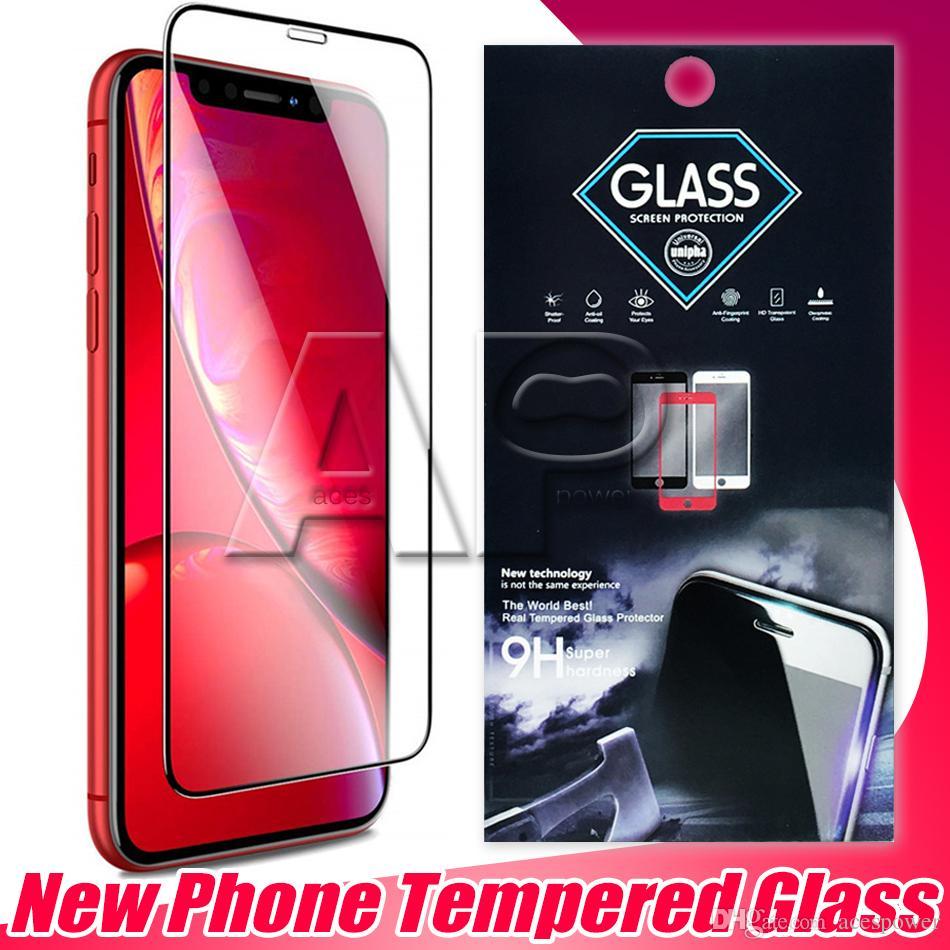 Full Cover Tempered Glass For Iphone XS MAX XR X 8 7 Plus Samsung J7 Prime Huawei Mata 20 Lite Full Glue
