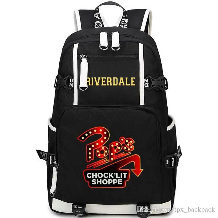 Pop Unterlegkeil shoppe Rucksack Riverdale Tagesrucksack Drehbuch Schultasche Freizeit-Rucksack Qualität Rucksack Sport Schulranzen Außen daypack