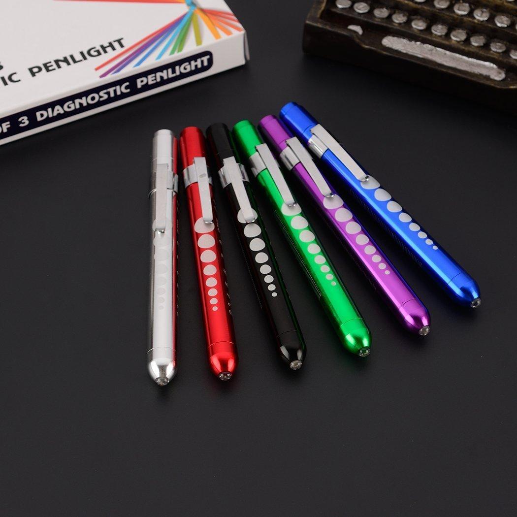 100 x Medical LED Pen Light 7 Color Doctor Nurse EMT Emergency Flashlight Torch