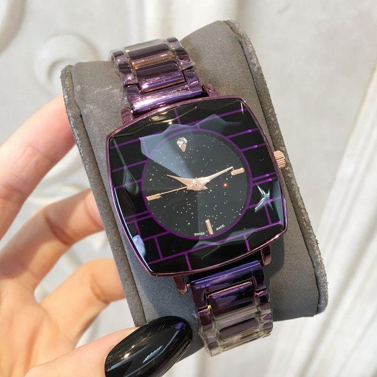 Relojes 드 마르카 Mujer 새로운 패션 레이디 시계 불규칙한 모양의 전화 다이얼 럭셔리 여성 손목 시계 스테인레스 스틸 드레스 팔찌 시계 도매