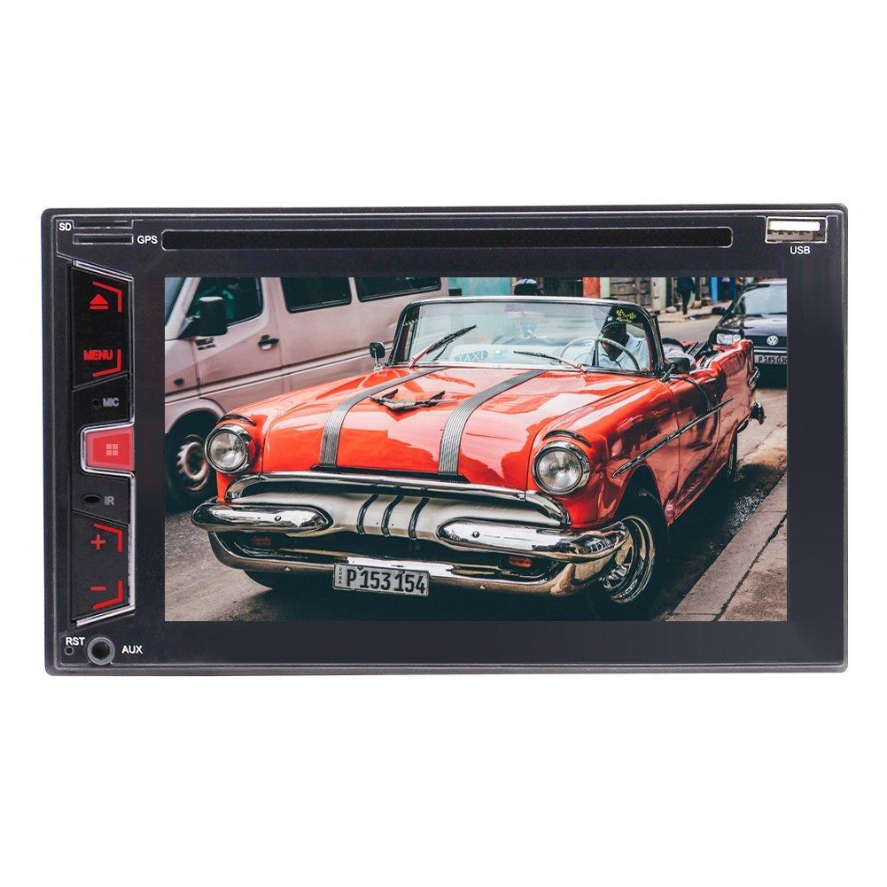 "Eincar Çift Din Bluetooth In-Dash GPS Navigasyon DVD / Am / FM / RDS / USB / TF Araba dvd Stereo Radyo Alıcısı 6.2 ""Dokunmatik Ekran + Uzaktan Kumanda"