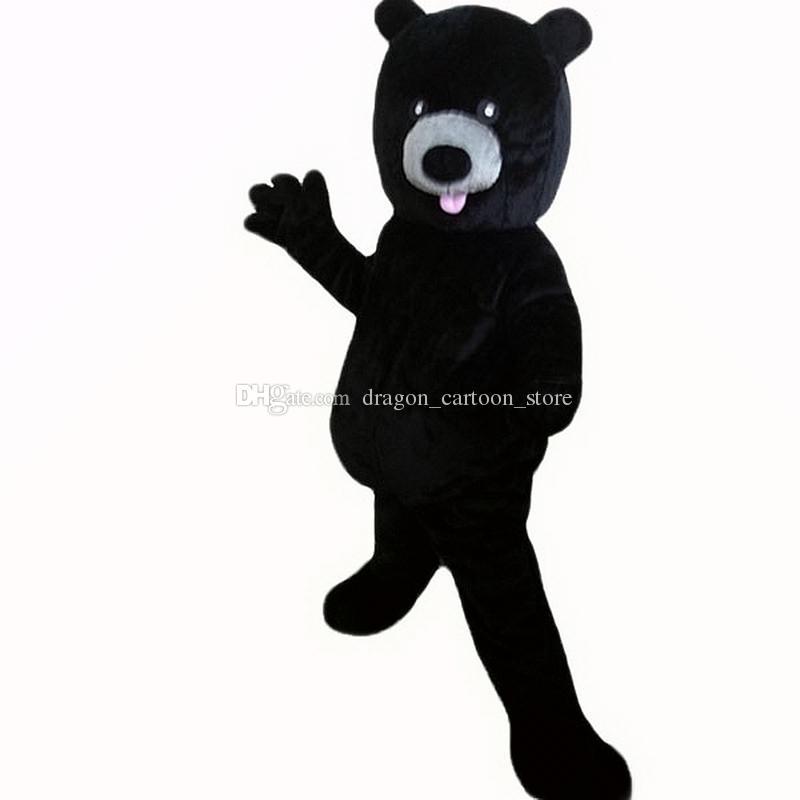 black bear Mascot Costumes Personaggio dei cartoni animati per adulti Sz Immagine reale 100% 089