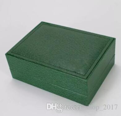 Livraison gratuite montre de luxe Hommes Pour Rolex Watch Box Original Original Intérieur Womans Montres Boîtes Hommes Montre-Bracelet Vert boîte livret carte