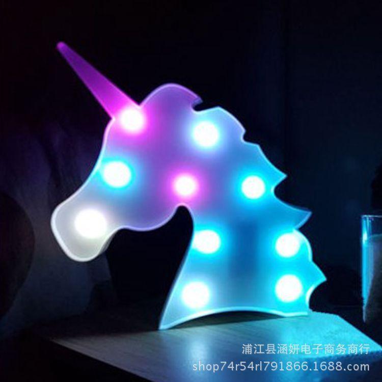 Ändernde Farbe-Einhorn-LED-Licht-Plastiklampe Christm-Partei-Feiertags-Dekoration