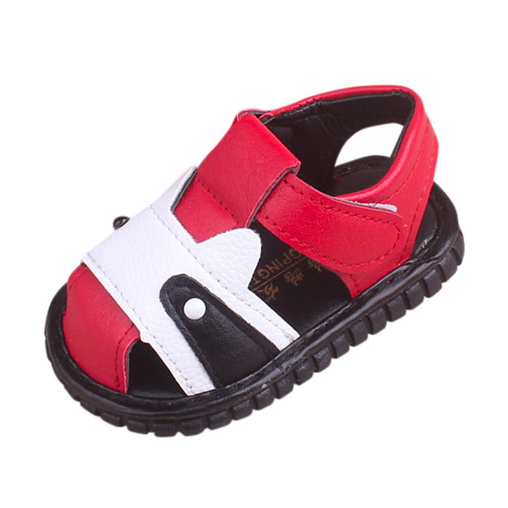 2019 Summer Baby First Walkers Infant Flower Sandals Toddler Girls Squeaky Shoes