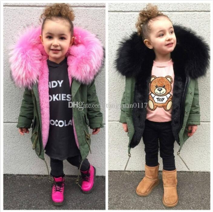Child Kids Toddlers Girls Faux Fur Coat Winter Warm Thicken Outwear Parka Jacket