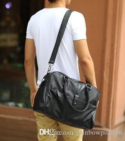 factory sales brand package upgrade leisure men single shoulder bag personality men leather shoulder bag large capacity single shoulderbag