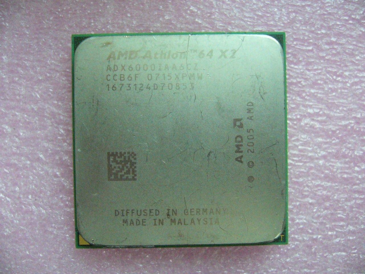 QTY 1X AMD Athlon 64 X2 6000+ 3 جيجاهرتز ثنائي النواة (ADX6000IAA6CZ) مقبس وحدة المعالجة المركزية AM2