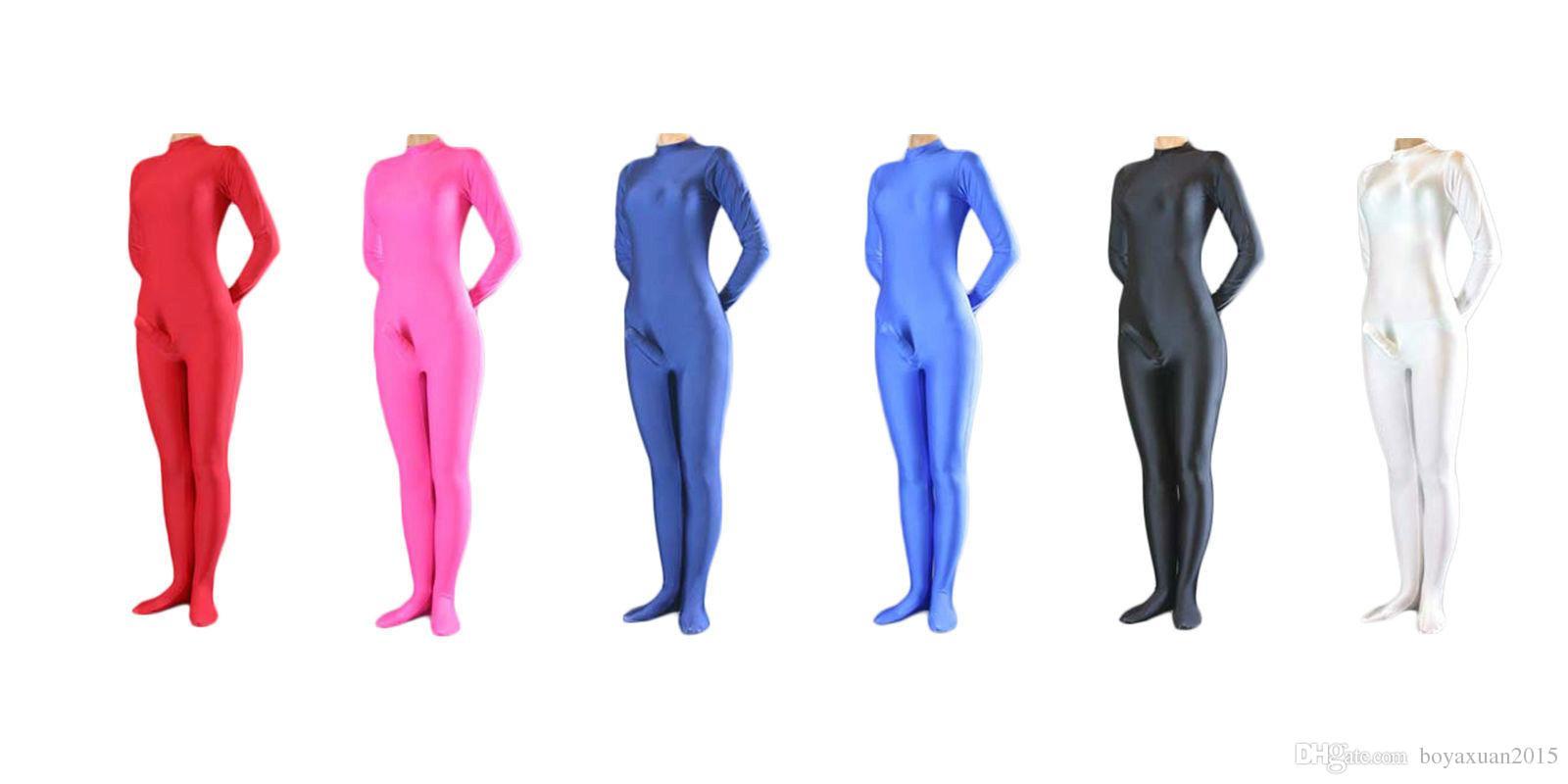 Wholesale- Lycra Spandex Zentai Catsuit Body tuta con fodero per pene