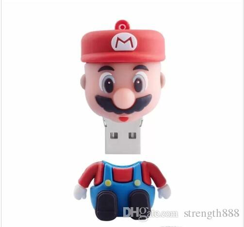 Super Mario USB 2.0-Flash-Laufwerk Stift Dirve U-Disk Thumb Drive Memory Stick 32 GB 16 GB