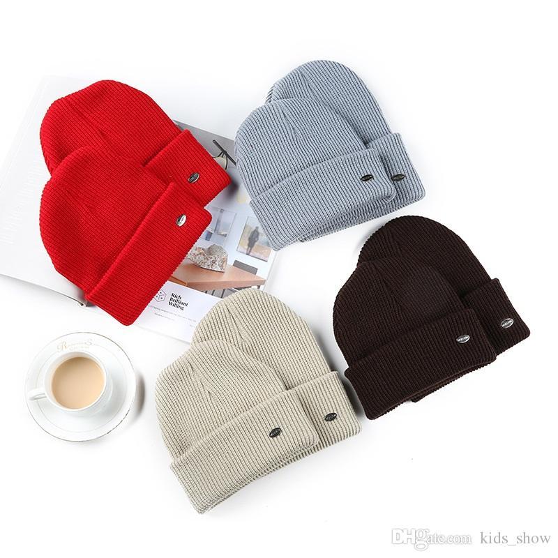 Adult Baby Kids Baggy Beanie Knited Hat Winter Warm Soft Cotton Parent-child Cap
