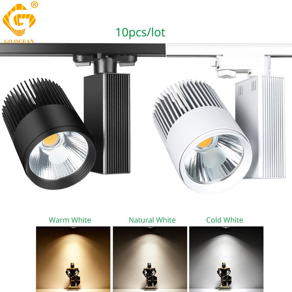 Track Lighting 40W LED Track Rail Light Modern Clothing Shop Store Shoe COB Spot Rail Spotlight 2/3/4 wire Phase Track Lamp Light fixture