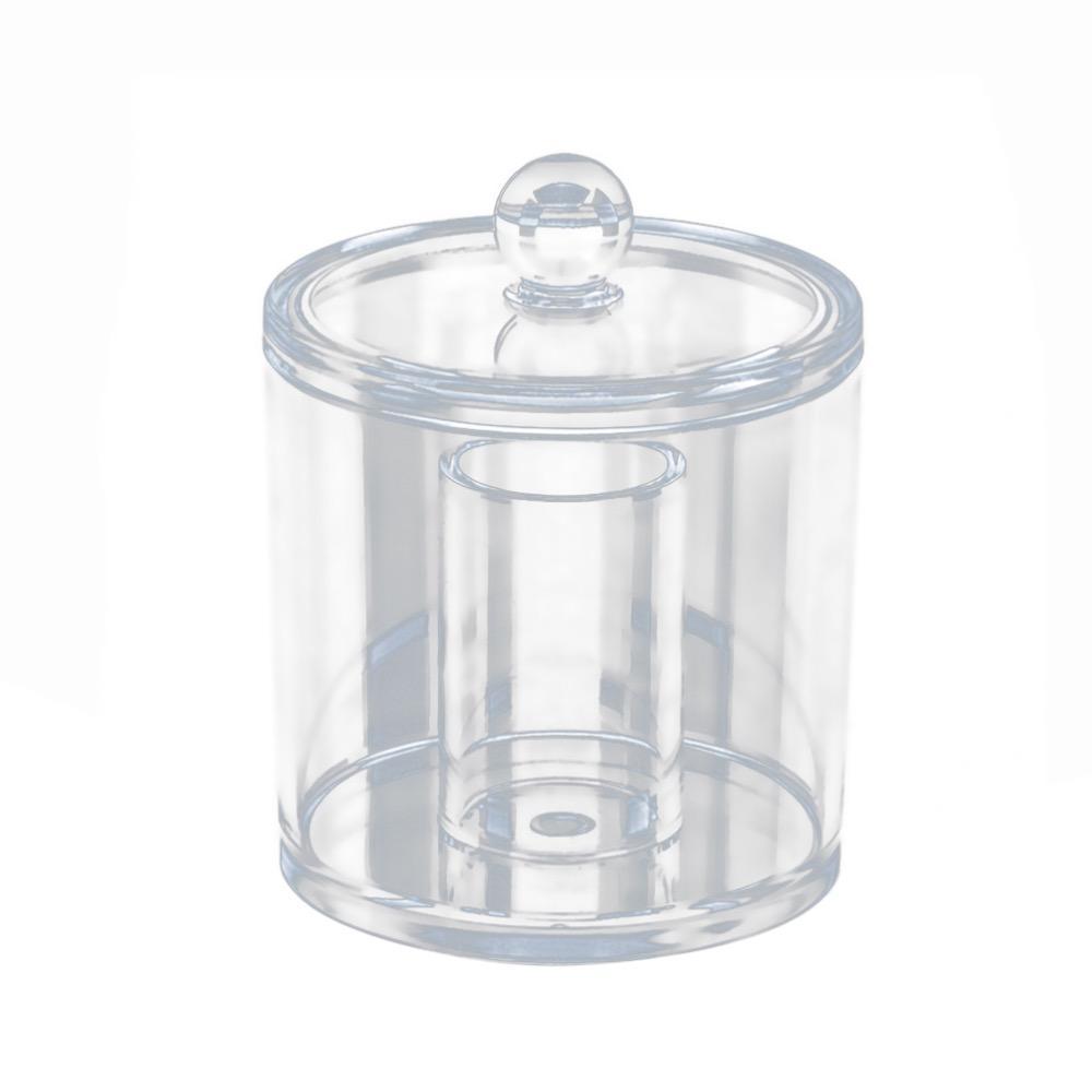 Transparente Baumwolle Ball und Tupfer Dispenser Acryl Runde Container Kosmetische Wattepads Halter Tupfer Makeup Veranstalter