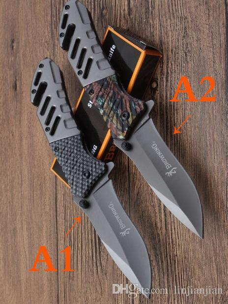 wholesaler A339 quality Browning Pocket Folding Knife sharp 7Cr15Mov Blade Tactical Survival Camping Knives Outdoor tools free shipping