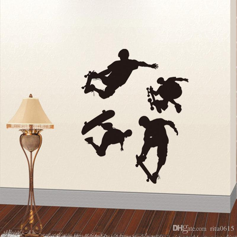 One Large Skateboard boy Wall stickers Decal Removable Mural Deco Vinyl Kids Au