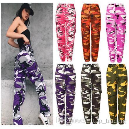 femmes occasionnels zaooye pantalons dames mode camouflage camo longs pantalons femmes sport lâche chaud vente pantalons PT6-7240