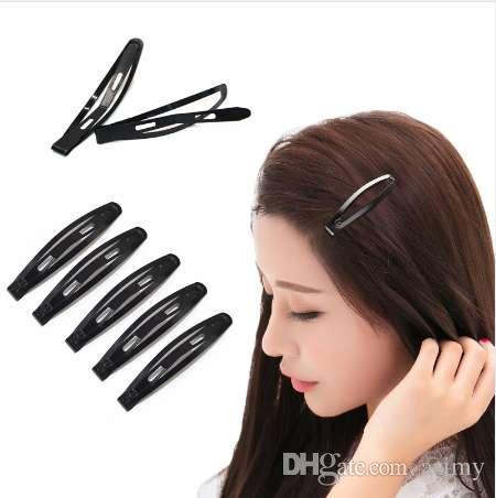 12Pcs//Pack Black Snap Clips Cheveux Femmes Filles épingles à cheveux Barrettes hairgrips enfant
