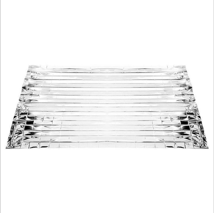 Manta de emergencia 210 * 130 cm manta de socorro manta de supervivencia protector solar de supervivencia de plata en 9032