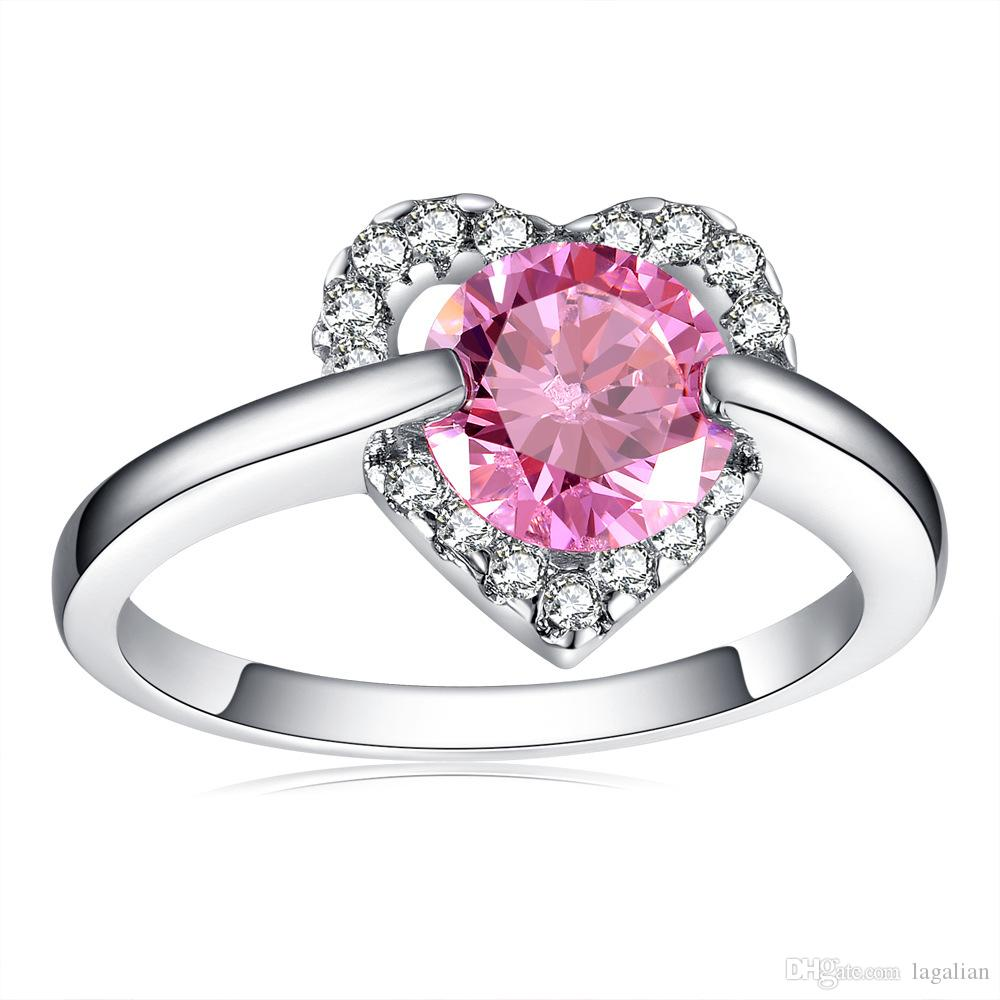 in with bands new from jewelry saphire bijouterie women wedding diamond cz crystal stone item fashion unusual korean set s silver ring year color pink heart rings
