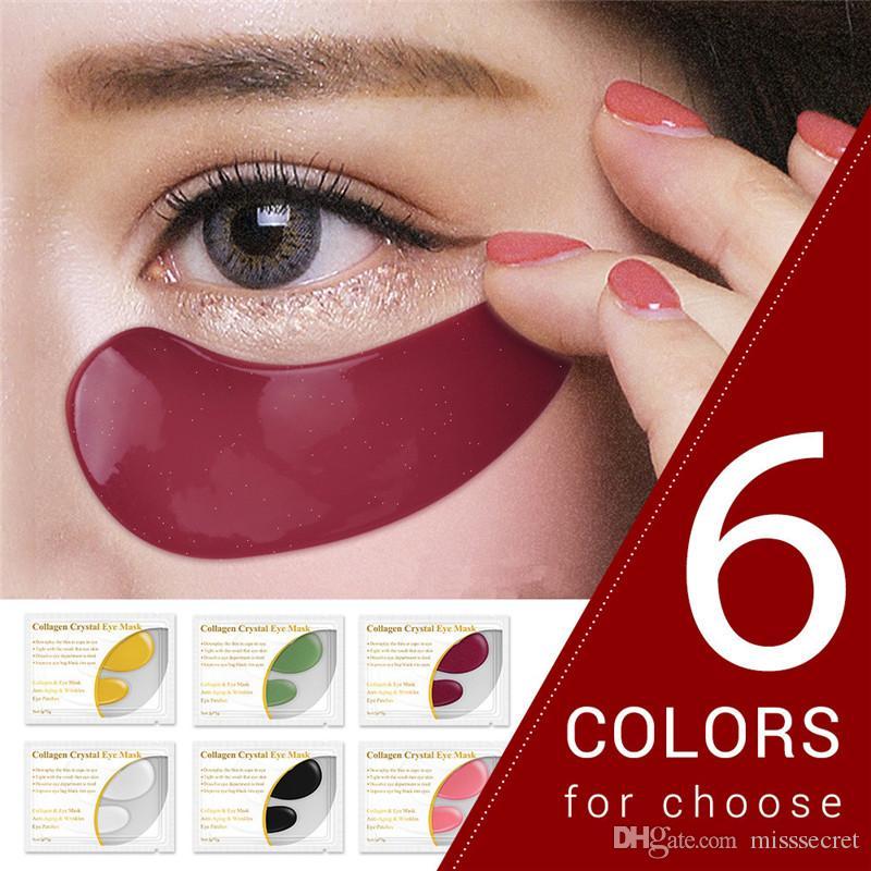 LANBENA 24 K Máscara de Olho de Ouro Colágeno Patches de Olho Anti Escuro Círculo Inchaço Saco do Olho Hidratante Cuidados Com A Pele