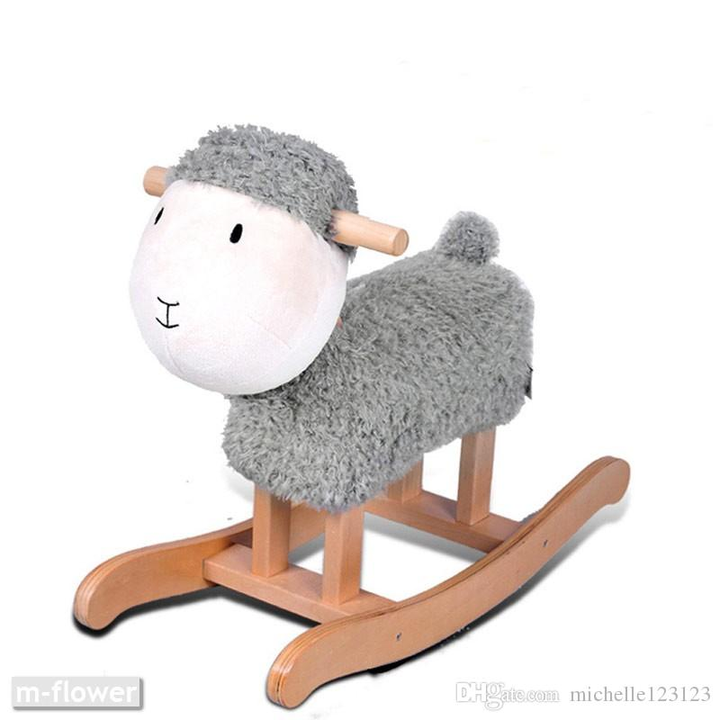 Peachy Lamb Sheep Abstract Horse Children Rocking Horse Kids Solid Wood Rock Chair Toys Gifts Decoration Arts Crafts Shooting Props Home Design Decoration Inzonedesignstudio Interior Chair Design Inzonedesignstudiocom