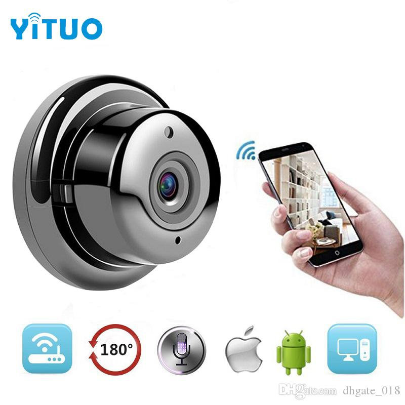 1.0MP 720P Button Mini Wireless Camera Wifi Two-way voice Indoor IR-CUT Night Vision CCTV Home Security IP Camera Wi-fi YITUO