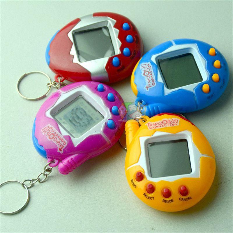 Nostalgico Virtual Cyber Pet Tamagotchi Digital Animali Retro Gioco Egg Toys portachiavi elettronico E Animali giochi per bambini bambino ragazze ragazzi adulti