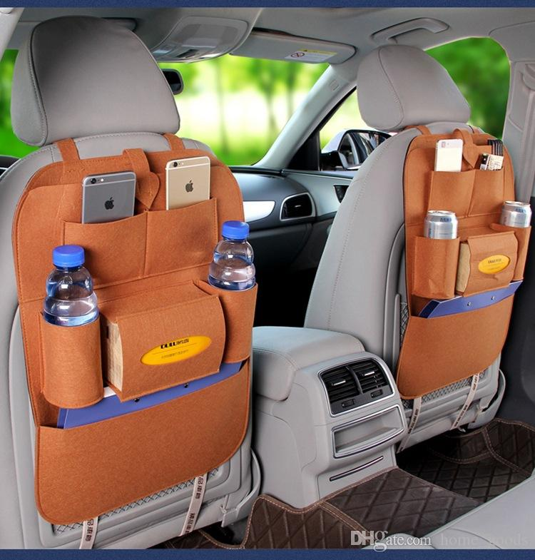 السيارات سيارة المقعد الخلفي التخزين المنظم القمامة صافي حامل متعدد جيب حقيبة السفر التخزين شماعات ل قدرة تخزين السيارات الحقيبة جودة عالية