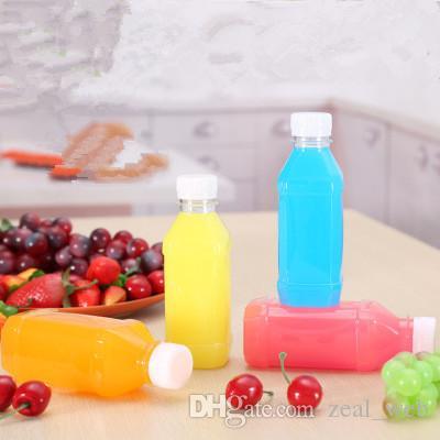 애완 동물 주스 병 250ml 포장 병 두꺼운 나사 캡 음료 병 우유 커피 물 150pcs 배수 150 개 플라스틱 150pcs