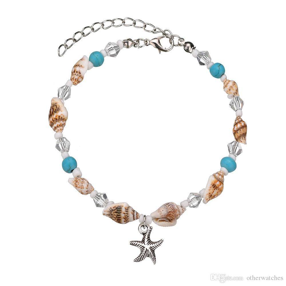 Натуральная морская звезда Shell Beach ножная цепь ракушка Anklets