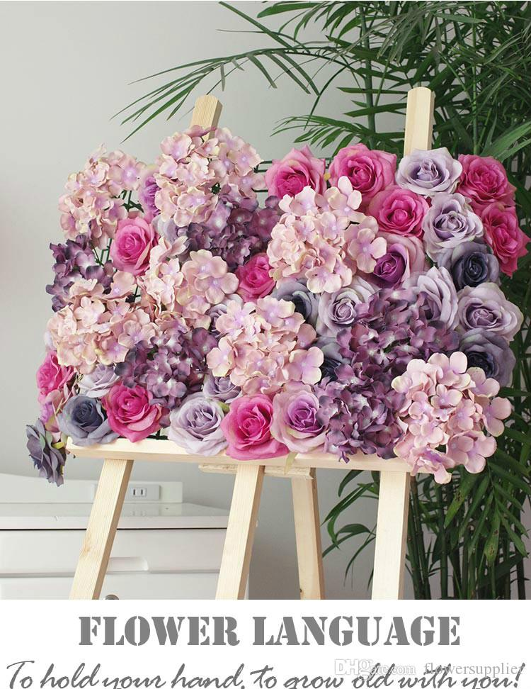 Compre Hortensia De Alta Calidad Flor De Rosa Flor Fondo De La Boda Fantásticos Arreglos De Fondo Floral 60x40cm Envío De La Gota A 20805 Del