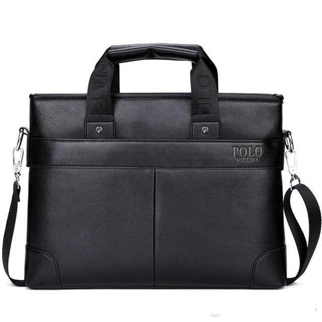 Qualitäts-PU-Leder Marke Mens Aktenkoffer klassische Geschäfts-Leder-Mann-Handtaschen maletin cuero männlich