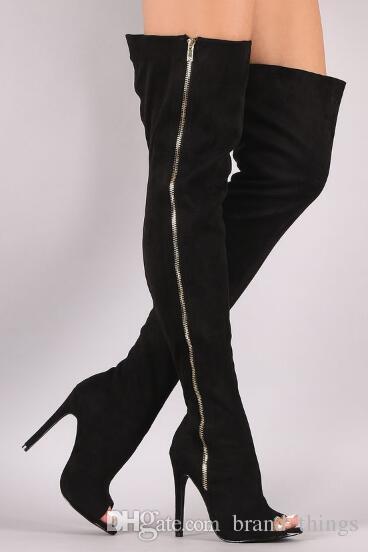 Acquista 2018 Scarpette Da Donna Con Brillantini, Scarpe Aperte, Scarpe Con Lacci, Stivali Con Paillettes, Alti Stivali Alti Da Gladiatore A $205.63