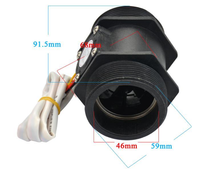 Capteur De D/ébit D/écoulement Deau De DN25 Avec Capteur De D/ébit Avec C/âble De 15cm