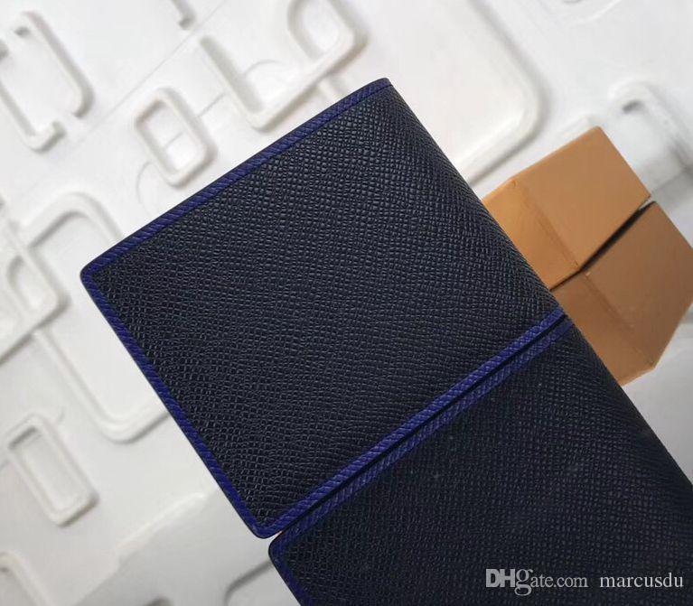 Top Noir Bleu Multiples Portefeuilles Hommes Damier Ebène Toile Taïga Portefeuilles en Cuir pour Hommes M30563 Sacs à Main Designer Porte-Cartes Porte-monnaie Multiple