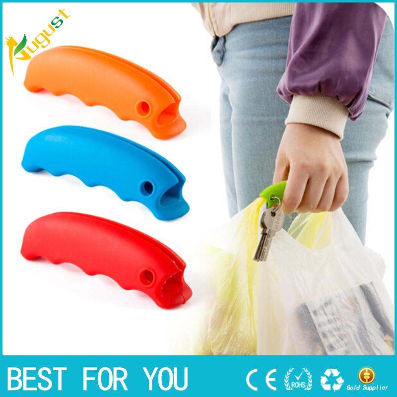 New Hot Silicone Hooks For Hanging Handbag Basket Shopping Bag Holder Carry Bag Handle Comfortable Grip Protect Hand Tools Random Color