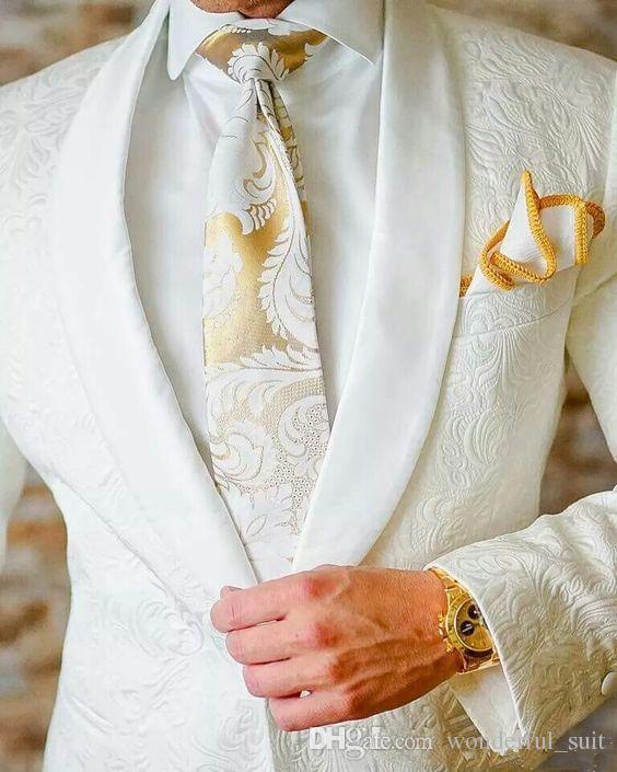 2017 Белый смокинги полушерстяные елочка свадебные костюмы для мужчин британский стиль на заказ мужской костюм slim fit Blazer(костюм+брюки)