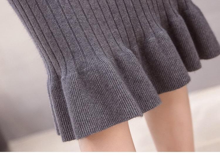 Winter Knitted Skirts Women High Waist Mermaid Skirt Saia Knitting Pack Hip Skirt Women\`s 2019 Casual Bodycon Faldas Mujer (16)