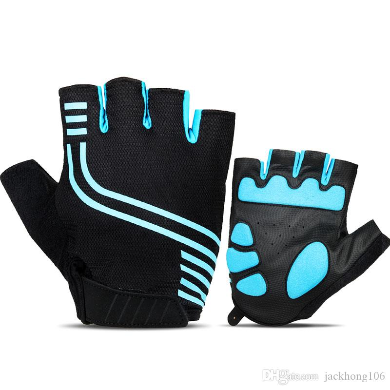 Soft Cycling Gloves Half Finger Mens Summer Shockproof Sports Gloves for Riding Outdoor Sports and Fishing