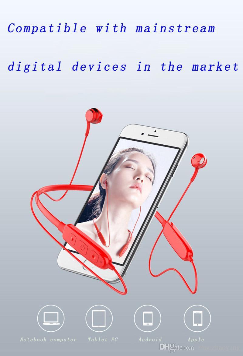 Neck Style suspendu binaural stéréo 3D surround sonores DeNoise rapide casque Bluetooth voix anglais casque de musique de sport professionnel